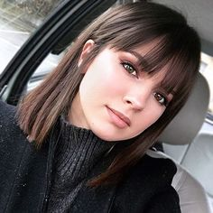 Ideas hairstyles short bangs fringes # Hairstyles with bangs Ideas hairstyles short bangs fringes Bob Hairstyles With Bangs, Long Bob Haircuts, Chic Hairstyles, Straight Hairstyles, Haircut Bob, Bangs Hairstyle, Hairstyle Ideas, Bang Haircuts, Full Fringe Hairstyles