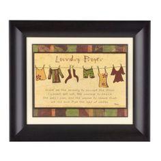 Kirkland's: Laundry Prayer Framed Print