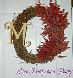 DIY Home Decor DIY Fall Crafts : DIY  Easy Fall Wreath