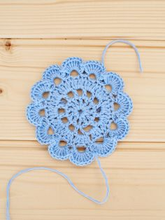 crochet circle flowers free pattern