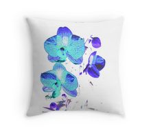 Throw Pillow 'Blue Orchid' by GeeGeeW on redbubble