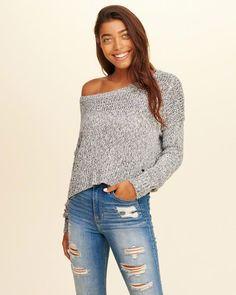d41ea5017f8 Hollister Slouchy Crop Sweater. (affiliate) Hollister