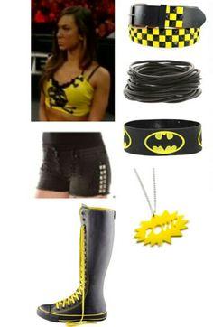AJ Lee Wrestling Clothes, Wrestling Outfits, Wwe Outfits, Sexy Outfits, Cool Outfits, Wwe Halloween Costume, Knee High Converse, Wwe Stuff, Aj Lee