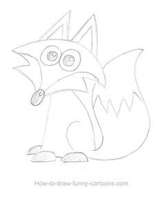 Fox Drawing | Fox drawings (Sketching + vector)