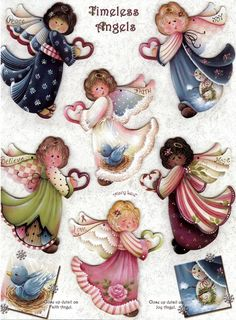 These are beautiful angels by one of my favorites,  Jamie Mills Price    Anjos Country  pintura em tecido ou tela