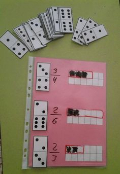 Perfect for comparing fractions. Fraction Activities, Math Resources, Math Activities, Math Classroom, Kindergarten Math, Teaching Math, Montessori Math, Homeschool Math, Math Projects