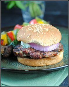 Lamb Burgers with Cilantro Raita. Preventionrd.com