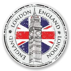 Illustration about Rubber grunge stamp London Great Britain, Big Ben tower and British flag vector. Illustration of banner, construction, blue - 44775314 Vintage Sticker, Big Ben, London Icons, London Art, Travel Stamp, Images Vintage, Vintage Art, Vintage Style, Passport Stamps