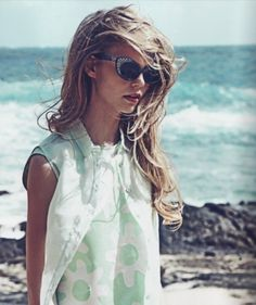 Statement sunnies paired with a simple, flowy top