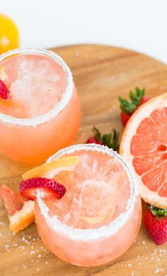 Strawberry Grapefruit Salty Dog - Hangar One