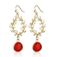 Stainless Steel Rose Cutout Dangle Earrings 68mm