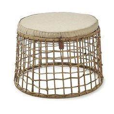 Rivièra Maison Rustic Rattan Formentera Poef Rustic, Coffee, Furniture, Home Decor, Products, Country Primitive, Kaffee, Decoration Home, Rustic Feel