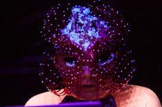 Björk: Headpiece by James Merry / Dress by Paula Knorr