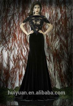 elegante hoge hals cap mouw kant spleet kant rood zwart bruidsmeisje jurken-afbeelding-plus size jurk en rokken-product-ID:213565265-dutch.alibaba.com