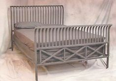 Handcrafted wrought iron bed.