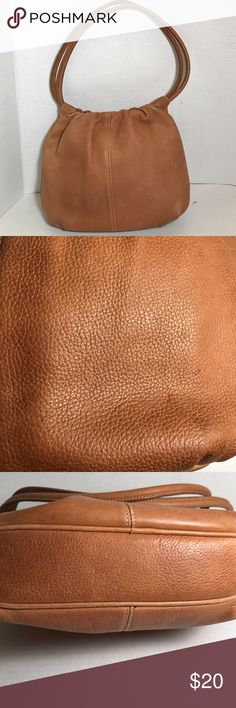 "Fossil leather purse Soft pebbled leather. Magnetic closure. In good preloved condition. Has some wear on bottom of purse and few spots on leather. See pic 2. Interior clean and very nice. Classic purse.12"" x 2.0"" x 9,5"" x 9"" strap drop Fossil Bags Shoulder Bags"