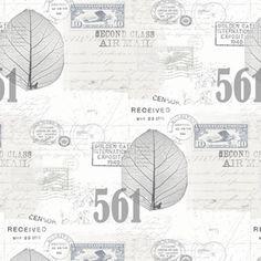 Stilfull tapet med blad från kollektionen Hav & Land 49272. Klicka för att se fler inspirerande tapeter för ditt hem!