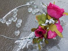 Silver and Rose Holiday Headband Fascinator by FairyFlowerDreams, $11.00