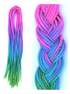 Single DE Wooldreads Rainbow Rave by KatinkaDreads on Etsy