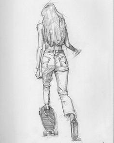 Unique Drawings, Cool Art Drawings, Pencil Art Drawings, Cool Sketches, Art Drawings Sketches, Pencil Sketching, Drawing Drawing, Drawing Faces, Drawing Tips
