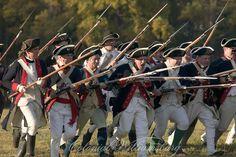 Bayonet charge by regular American troops at Yorktown