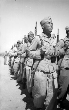 German Arab Infantry March 1943 - The Arabs despite being semite's were deemed worthy to join Hitler's ''aryan'' army