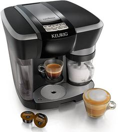 Learn about Keurig's new Rivo® Cappuccino & Latte System espresso maker, an espresso & cappuccino machine with a fresh milk frother for making your favorite espresso coffee drinks with the simplicity and consistency you expect from Keurig! Cappuccino Maker, Cappuccino Coffee, Cappuccino Machine, Espresso Maker, Latte Maker, Espresso Cups, Espresso Machine Reviews, Best Espresso Machine, Coffee Machine Best