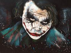 Heath Ledger as The Joker 1.20m x 1.m Acrylic