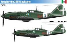 The Reggiane Sagittario (English: Archer, Sagittarius) was an Italian monoplane fighter/fighter-bomber produced for the Regia Aeronautica during the . Aviation Mechanic, Aviation Art, Italian Air Force, Old Planes, Daimler Benz, War Thunder, Ww2 Aircraft, Model Airplanes, World War Two