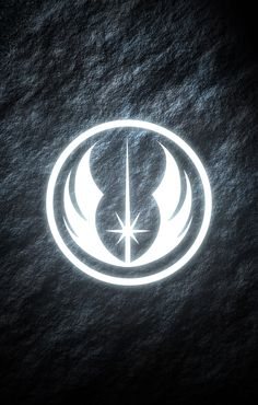 Jedi Order Star Wars phone wallpaper. Glowing symbol.
