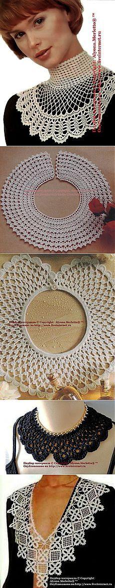 Knitulator mag Häkelschmuck: #Häkelkragen, #Häkelschmeichler 9 съёмных воротничков крючком ....