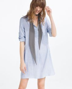 TUNIC WITH SLANTED POCKET-View All-DRESSES-WOMAN | ZARA United States