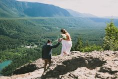 The Clark's Elopement, I love this! Foregoing a larger more traditional wedding and still having an awesome photographer and videographer to capture the moments for those who won't attend. Amazing idea!