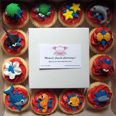 More ideas for fondant fun. Beach Theme Cupcakes, Themed Cupcakes, Cupcake Party, Birthday Fun, First Birthday Parties, Birthday Party Themes, First Birthdays, Kids Beach Party, Beach Kids