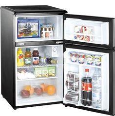 Dorm Room Storage - Midea College Fridge with Freezer - 3.1 Cu Ft College Essential on Wanelo