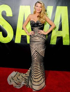 Blake Lively in Zuhair Murad Spring 2012 Gown at the Savages Premiere. THIS DRESS IS UNREAL.