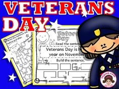 These Veterans Day activity pages are great addition to Veterans Day unit!