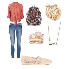 This is a great back to school outfit for those in middle school or high school but if your not in school it's just an overall great outfit for anyone.