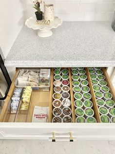 Kitchen Organization Hacks and Ideas to Simplify Your Life Organisation Hacks, Tea Organization, Organizing Hacks, Kitchen Drawer Organization, Kitchen Drawers, Hacks Diy, Kitchen Storage, Coffee Station Kitchen, Coffee Bar Home