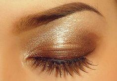 Gold and bronze eyeshadow