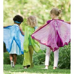 Fanciful Fairy Fabric Wings, Magic Cabin Exclusive -- great for imaginative play! #magiccabin #dressup #pretendplay