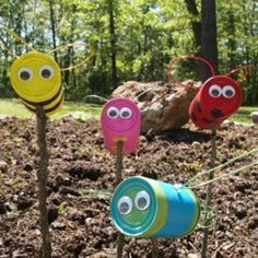25 Recycled Tin Can Crafts For Kids #craftsforkids #recycledcraftscans