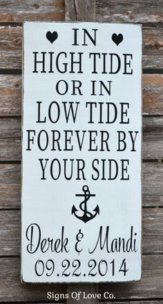 Beach Wedding Sign Anchor Decor In High Tide Or Low Tide I'll Be By Your Side Nautical Plaque Weddings Gift Ideas Personalized Ideas Planning Table Decor Bridal Shower Water Side Ocean Lake Outdoor Nautical Weddings Rustic Destination Weddings Decorations Sweetheart table  #beachweddings #beachweddingsign #beachweddinggift #nauticalweddings #personalizedweddinggift #weddingdecorations #beachsign #beachdecor #teal #mintgreen #weddinggifts #inhightideorinlowtide #hightide #sign #anchordecor