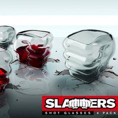 Slammers - Fist shaped shot glass (set of 4)