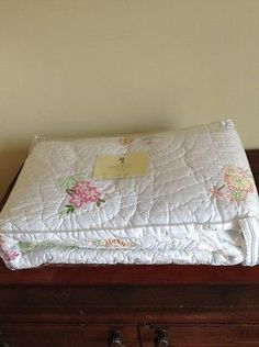 Pottery Barn Kids Madeline Embroidered Flower Twin Quilt New in Package | eBay
