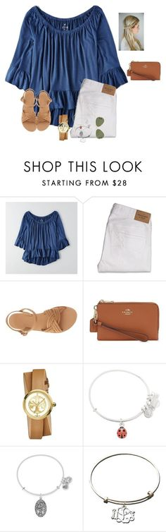 """You keep me in perfect peace as I trust in you"" by raquate1232 ❤ liked on Polyvore featuring American Eagle Outfitters, Abercrombie & Fitch, Ancient Greek Sandals, Coach, Tory Burch, Alex and Ani, Carved Solutions and Ray-Ban"