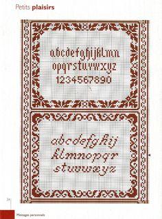 Cross Stitch Letters, Cross Stitch Borders, Cross Stitch Samplers, Cross Stitch Designs, Cross Stitching, Cross Stitch Embroidery, Stitch Patterns, Crochet Alphabet, Embroidery Alphabet