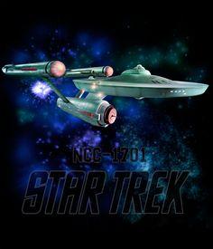 Camiseta Star Trek Enterprise NCC-1701. Galaxia