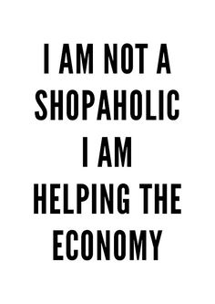 Shopaholic Print Wall art print poster typography by MottosPrint