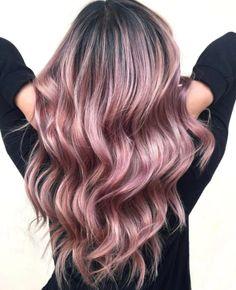 millenial pink // pastel pink hair trends